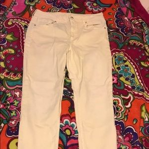 Pastel yellow Maurices jeans